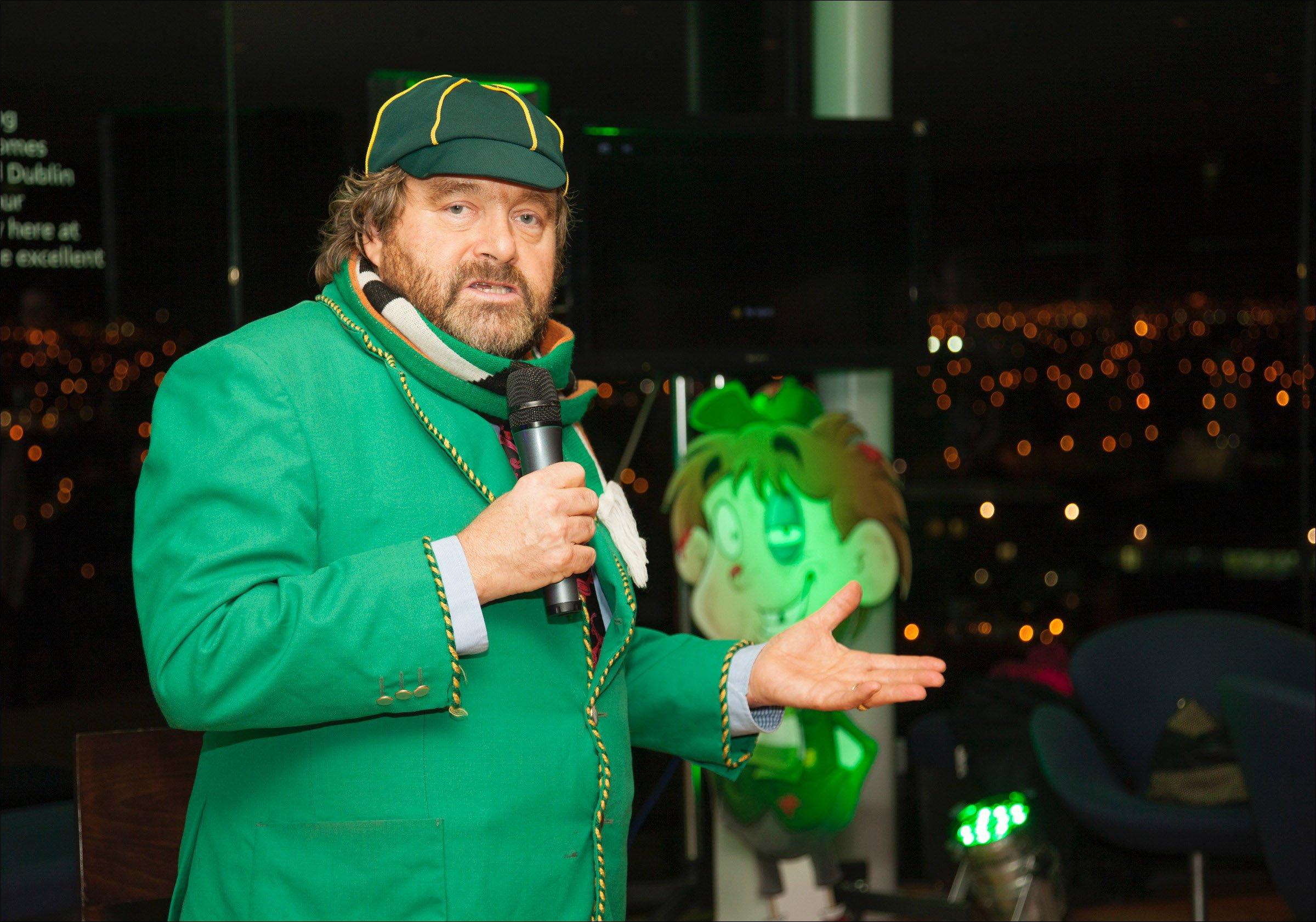 Television Programme: 'Brendan Grace: a interview' with Brendan Grace. Brendan Grace during a launch of a TV3 charcterised special 'Bottler', in a Gravity Bar during a Guinness Storehouse in Dublin, Ireland, on Monday 18th Nov 2013. Brendan Grace's comedy impression Bottler will make a jump into a universe of animation this Friday on TV3.....The charcterised special, constructed by ?Keg Kartoonz?, will mix live movement footage of a genuine Brendan Grace starring as comparison Bottler with a animation chronicle of his younger self.....Brendan, who has enjoyed an shining 40 year career as a comedian, thespian and actor, also lends his voice to several of a animations characters.....Bottler front Friday 22nd Nov during 9pm on TV3.....