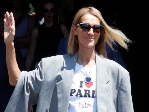 Celine Dion continues style parade as she wears 'I Heart Paris Hilton' T-shirt