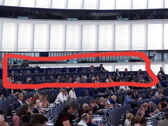 Picture tweeted by Liberal Democrat MEP Luisa Porritt (Picture: @LuisaPorritt)