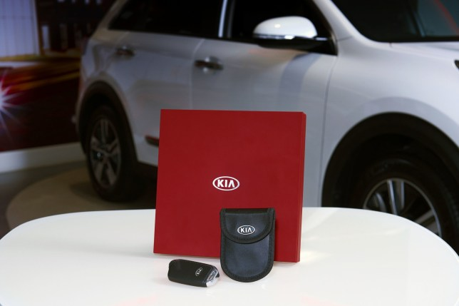 Undated handout photo issued by Kia Motors of the new Kia KiaSafe key fob case to prevent hackers using 'relay attacks' to hijack the frequencies used by keyless entry systems to gain access to cars. PRESS ASSOCIATION Photo. Issue date: Thursday July 4, 2019. See PA story TECHNOLOGY Kia. Photo credit should read: Kia Motors/PA Wire NOTE TO EDITORS: This handout photo may only be used in for editorial reporting purposes for the contemporaneous illustration of events, things or the people in the image or facts mentioned in the caption. Reuse of the picture may require further permission from the copyright holder.