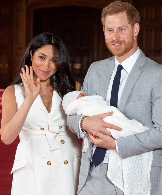 Prince Harry, wife Meghan Markle and son Archie