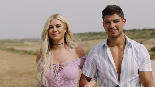 Belle Hassan and Anton Danyluk on Love Island