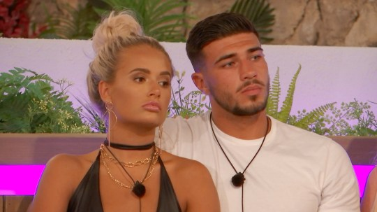 From ITV Studios Love Island: SR5: Ep31 on ITV2 Pictured: The Islander's gather around the fire pit for the dumping: Molly-Mae and Tommy. This photograph is (C) ITV Plc and can only be reproduced for editorial purposes directly in connection with the programme or event mentioned above, or ITV plc. Once made available by ITV plc Picture Desk, this photograph can be reproduced once only up until the transmission [TX] date and no reproduction fee will be charged. Any subsequent usage may incur a fee. This photograph must not be manipulated [excluding basic cropping] in a manner which alters the visual appearance of the person photographed deemed detrimental or inappropriate by ITV plc Picture Desk. This photograph must not be syndicated to any other company, publication or website, or permanently archived, without the express written permission of ITV Picture Desk. Full Terms and conditions are available on the website www.itv.com/presscentre/itvpictures/terms For further information please contact: james.hilder@itv.com / 0207 157 3052