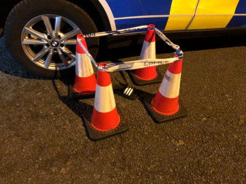 Police cordon off single sandal after driver flees the scene