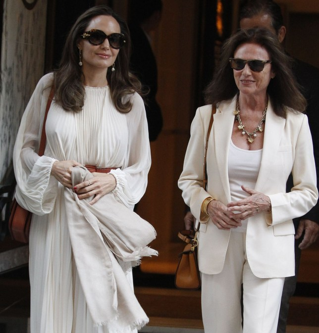 Angelina Jolie and Jacqueline Bisset Angelina Jolie and Jacqueline Bisset out and about, Paris