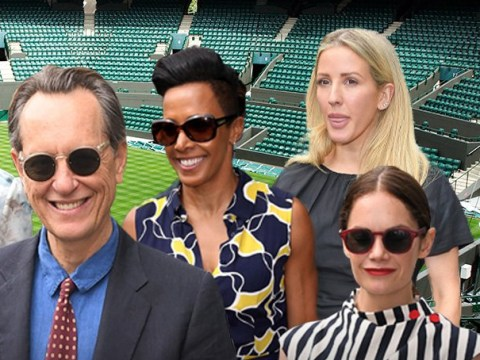 Richard E Grant is all smiles as he joins wife Joan at Wimbledon days after meeting Barbra Streisand