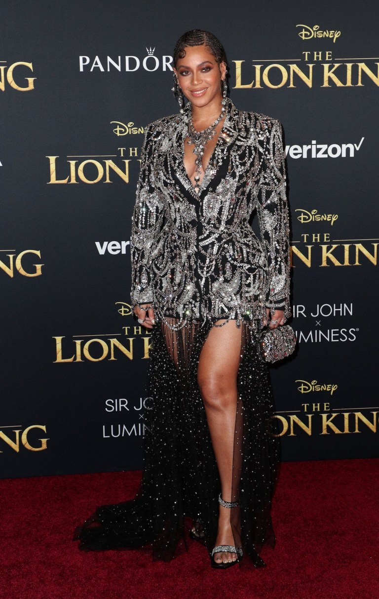 Image result for beyonce lion king premiere images