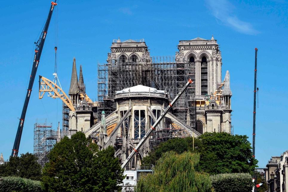 Inside the Notre Dame restoration