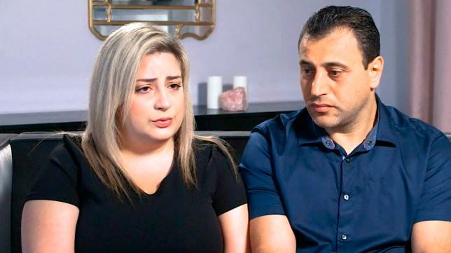 In this Monday, July 8, 2019 photo taken from video provided by Peiffer Wolf Carr & Kane, Anni, left, and Ashot Manukyan describe their lawsuit against a fertility clinic during an interview in Los Angeles. The Southern California couple claim their embryo was mistakenly implanted in a New York woman, who gave birth to their son as well as a second boy belonging to another couple. The lawsuit by the Manukyans describes an alleged in vitro fertilization mix-up by CHA Fertility Center in Los Angeles that involves three separate couples. (Peiffer Wolf Carr & Kane via AP)