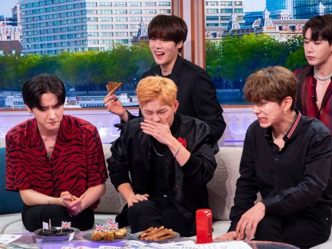 Monsta X try Marmite and scotch eggs on Good Morning Britain as ill Hyungwon misses appearance