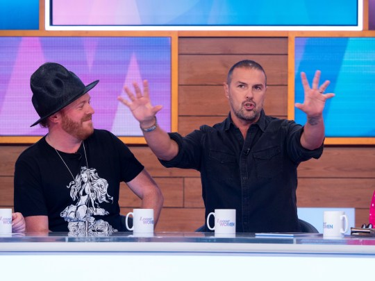 Editorial use only Mandatory Credit: Photo by Ken McKay/ITV/REX (10332946f) Keith Lemon, Paddy McGuinness 'Loose Women' TV show, London, UK - 12 Jul 2019