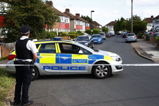 ?? Licensed to London News Pictures. 12/07/2019. London, UK. The scene at a residential address in Redfern Avenue, Whitton, South West London where a man and a woman have been fatally stabbed. A 31-year-old man was arrested after a man, aged in his 60s, and a woman, aged in her 70s were found at the property with stab injuries. Photo credit: Peter Macdiarmid/LNP