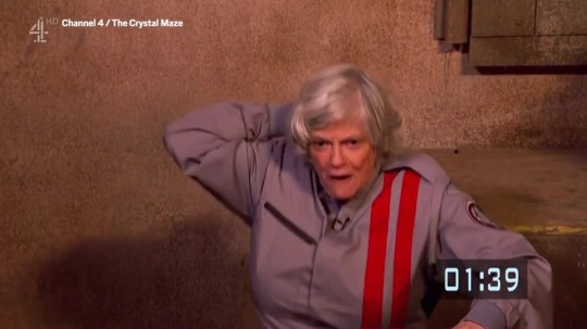 Ann Widdecombe on the Crystal Maze