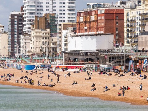 Outrage as couple perform sex act in front of families on beach in Brighton
