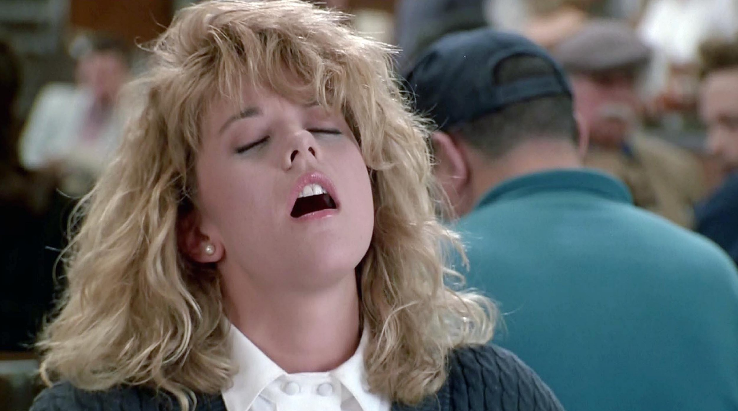 Orgasm stage in When Harry Met Sally.