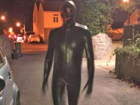 Second suspect arrested after man in gimp suit approached woman 'touching his groin'