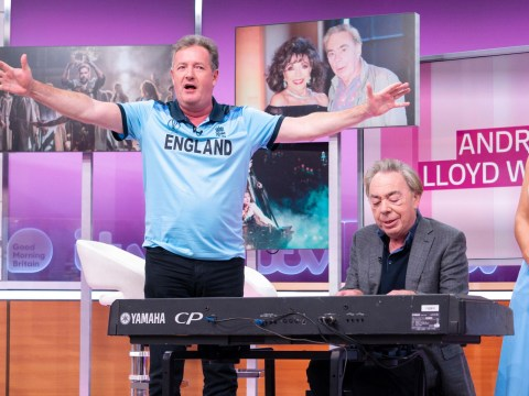 Piers Morgan proves musicals aren't his calling as he bravely tries to with Andrew Lloyd Webber