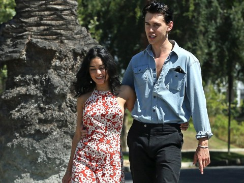 Austin Butler emerges with Vanessa Hudgens as he's cast as Elvis Presley for biopic