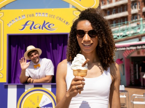 You can get a free Cadbury 99 Flake ice cream if you scream loud enough this summer