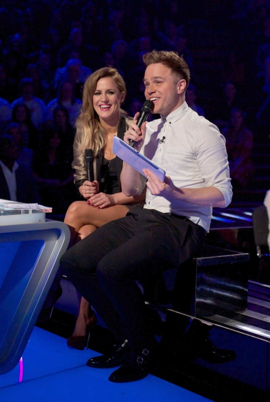 Olly Murs and Caroline Flack on X Factor