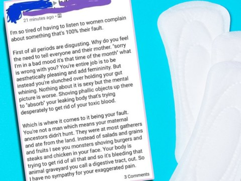 Man gets shut down after rant branding periods 'disgusting' and women's 'fault'