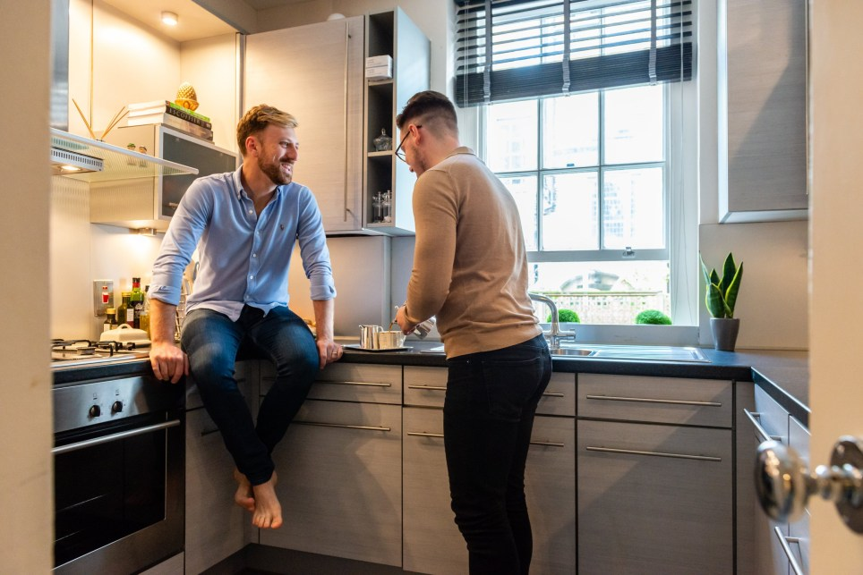 What I Rent: Matthew Rose and husband Charles in the kitchen