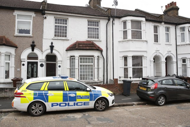 ?? Licensed to London News Pictures. 19/07/2019. London, UK. The scene where it is reported that the body of a woman was found on fire in the back garden of a property in Chadwell Heath, East London. Fire fighters arrived at the house and then called in the police when they found the woman. Photo credit: Peter Macdiarmid/LNP