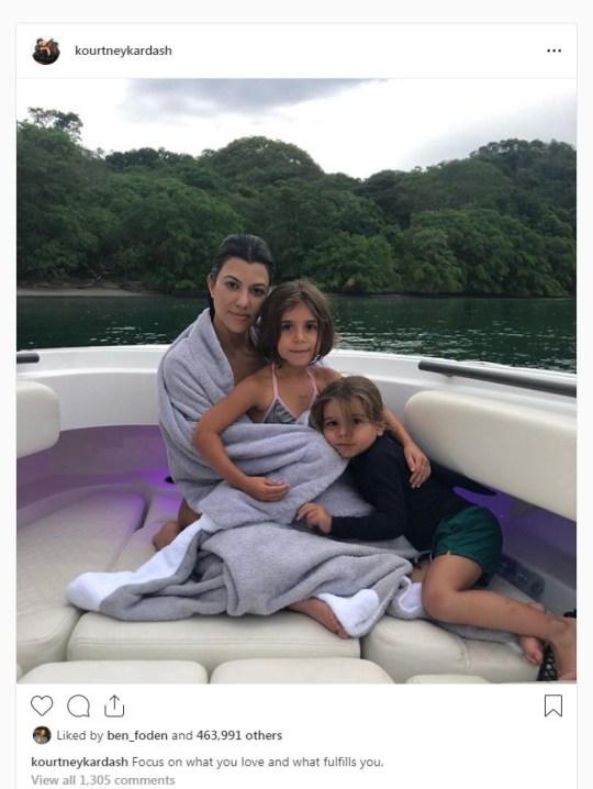 Kourtney Kardashian and children #social media