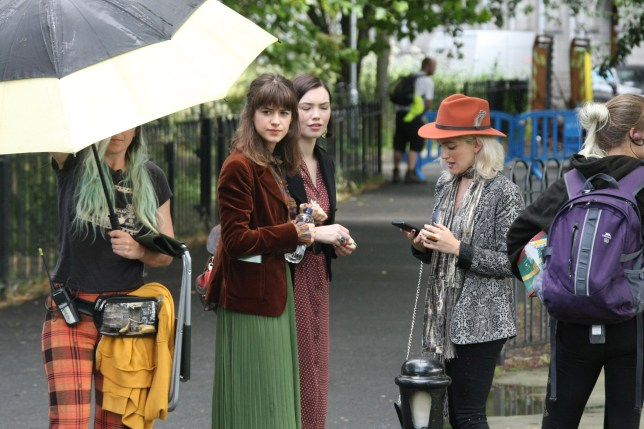 Daisy Edgar-Jones pictured as Marianne for first time as Normal People films in Dublin