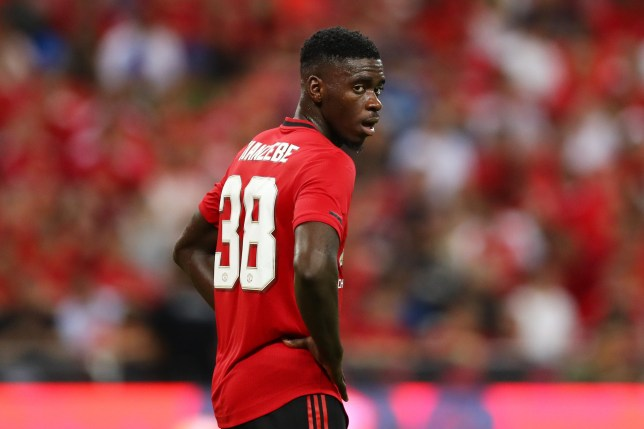 Axel Tuanzebe of Manchester United is seen during the 2019 International Champions Cup match against Inter