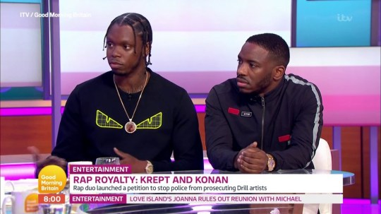 METRO GRAB - Krept and Konan argue banning drill music is 'lazy' move in fight against knife crime From ITV / Good Morning Britain
