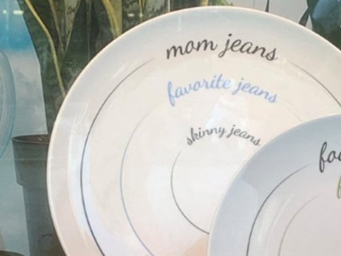 Macy's remove plates encouraging people to eat tiny portions to get into their skinny jeans