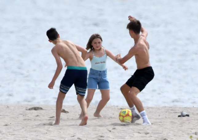 Harper Beckham in Miami