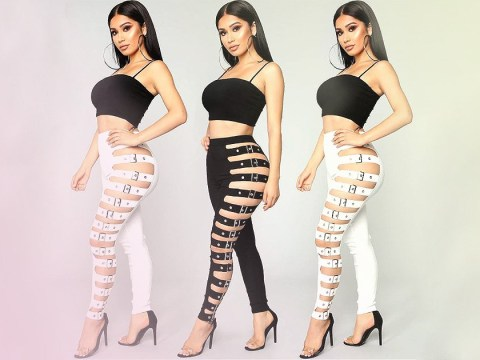 These Fashion Nova buckle jeans look like a nightmare to take off after a night out