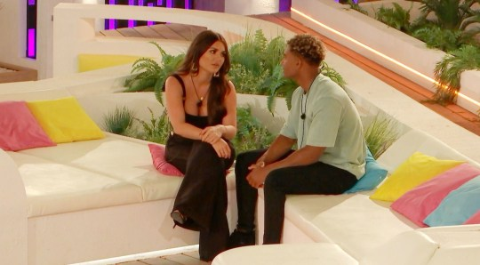 Editorial use only Mandatory Credit: Photo by ITV/REX (10345249e) India Reynolds and Jordan Hames 'Love Island' TV Show, Series 5, Episode 44, Majorca, Spain - 23 Jul 2019 The Villa Erupts After Jordan?s Head is Turned by India Molly-Mae and Tommy Reflect on the Revelations From the Recent Challenge Curtis and Maura Head to the Hideaway for Some Alone Time Chris Tries to Make Amends with Harley
