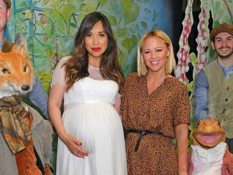 Pregnant Myleene Klass is glowing as due date rapidly approaches