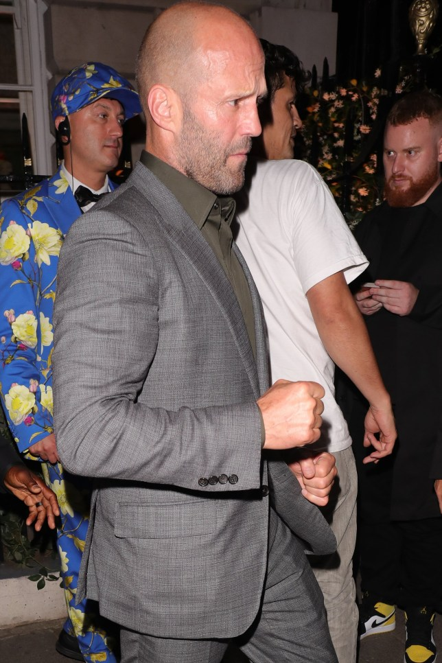 LONDON, ENGLAND - JULY 23: Jason Statham is seen at Annabel's club on July 23, 2019 in London, England. (Photo by Mark R. Milan/GC Images)