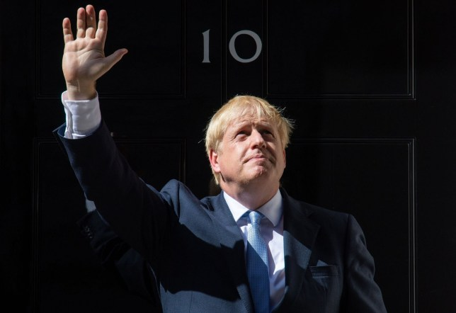 PABest New Prime Minister Boris Johnson waves on the steps of 10 Downing Street, London, after meeting Queen Elizabeth II and accepting her invitation to become Prime Minister and form a new government. PRESS ASSOCIATION Photo. Picture date: Wednesday July 24, 2019. See PA story POLITICS Tories. Photo credit should read: Dominic Lipinski/PA Wire
