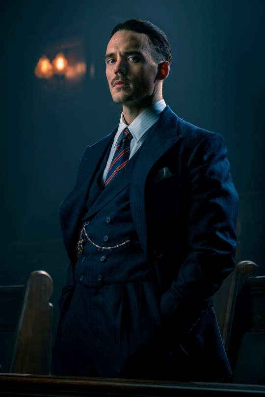 WARNING: Embargoed for publication until 00:00:01 on 30/11/2018 - Programme Name: Peaky Blinders V - TX: n/a - Episode: Peaky Blinders V - Early Release (No. n/a) - Picture Shows: ***PICTURE STRICLY IMBARGOED FOR PUBLICATION UNTIL 00:01HRS FRIDAY 30/11/2018*** Sam Claflin (first look image) in BBC One???s Peaky Blinders, series five. Sam Claflin - (C) Caryn Mandabach Productions/Tiger Aspect Productions - Photographer: Matt Squire