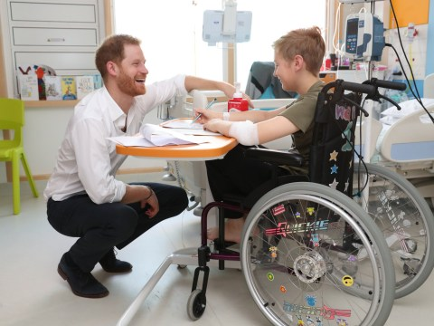Prince Harry couldn't be any cuter as he visits children with long-term illnesses