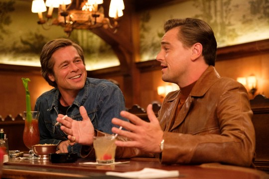 Brad Pitt, left, and Leonardo DiCaprio in Quentin Tarantino's Once Upon a Time in Hollywood