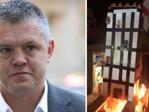 Grenfell Tower effigy on bonfire was an 'artistic effort', lawyer says