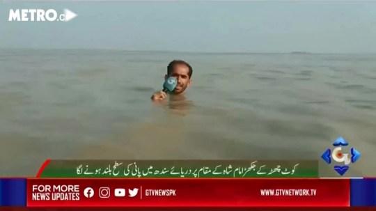 Azadar Hussain, a news reporter for Pakistani channel GTV News