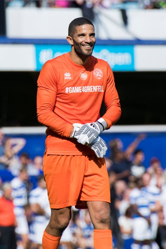 LONDON, ENGLAND - SEPTEMBER 02: David James during the #GAME4GRENFELL at Loftus Road on September 2, 2017 in London, England. The charity football match has been set up to benefit those who were affected in the Grenfell Tower disaster. (Photo by Tristan Fewings/Getty Images)