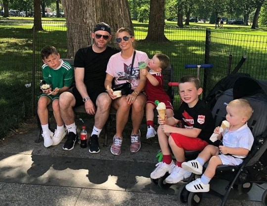 Wayne and Coleen Rooney and their kids
