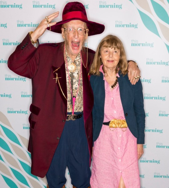 "EDITORIAL USE ONLY. NO MERCHANDISING Mandatory Credit: Photo by Ken McKay/ITV/REX/Shutterstock (9917369z) John McCririck and wife Jenny known as ""The Booby"" 'This Morning' TV show, London, UK - 08 Oct 2018 JOHN MCCRIRICK ON HIS SHOCKING WEIGHT LOSS His shockingly gaunt appearance on Big Brother?s Bit on the Side last week sparked concerns - but what is the truth behind racing pundit John McCririck?s dramatic three stone weight-loss? He joins us today to address the health concerns and set the record straight."
