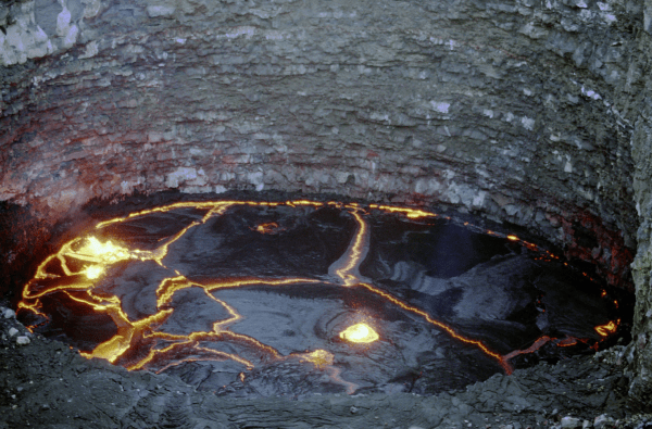 A lava lake at Erta Ale Volcano in Ethiopia (Photo: Hervé Sthioul, Creative Commons)