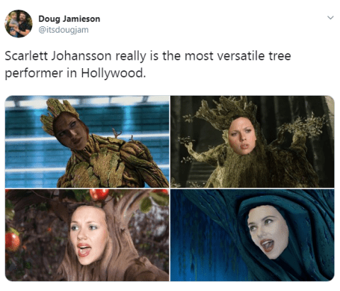 Scarlett Johansson Turned Into Famous Trees Amid Politically Correct Casting Metro News