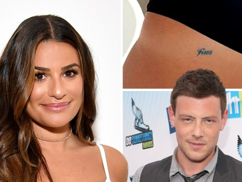 Lea Michele shows off Cory Monteith tribute 'Finn' tattoo as sixth anniversary of Glee star's death approaches