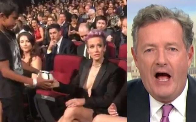 Piers Morgan slammed Megan Rapinoe's attitude towards a young fan